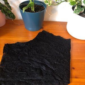 black lace shawl/scarf